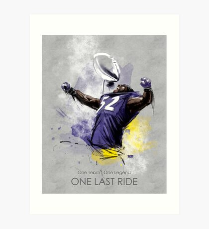 Ray Lewis  |  One Last Ride Art Print