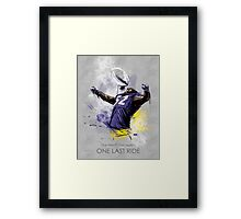 Ray Lewis  |  One Last Ride Framed Print