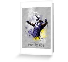 Ray Lewis  |  One Last Ride Greeting Card