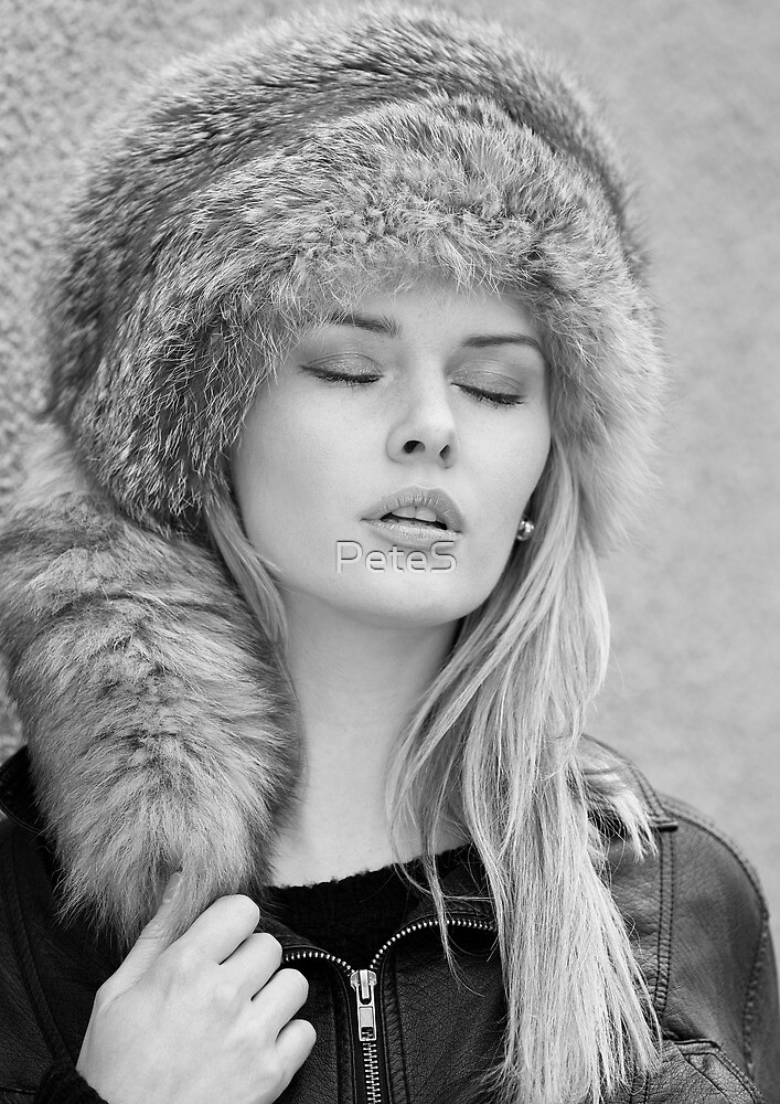 Girl in a fur hat by Peter Stone