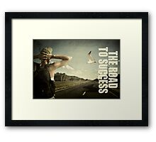 The journey to success. Framed Print