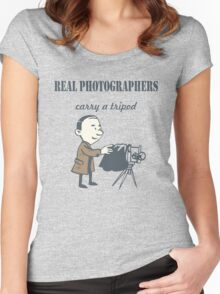 Real Photographers Carry a Tripod Women's Fitted Scoop T-Shirt