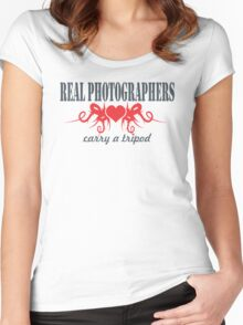 Real Photographers Carry a Tripod II Women's Fitted Scoop T-Shirt