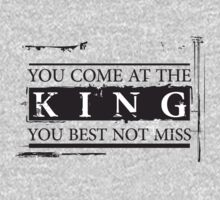 """""""You Come at the King, You Best Not Miss"""" - The Wire (Dark) T-Shirt"""