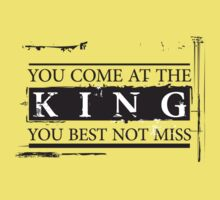 """You Come at the King, You Best Not Miss"" - The Wire (Dark) Kids Clothes"