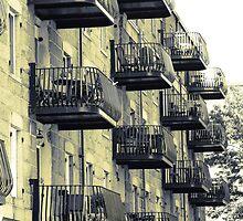 Boston Balconies, Massachusetts by Elizabeth Thomas