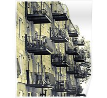 Boston Balconies, Massachusetts Poster
