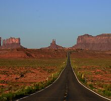 Down the Highway - Monument Valley by Barbara Burkhardt