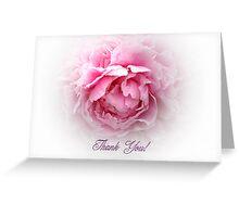 Pink Peony Thank You card Greeting Card