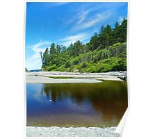 Ruby Beach Reflection Poster