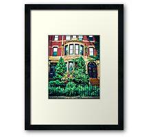 Boston Brownstone Framed Print