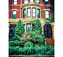 Boston Brownstone Photographic Print