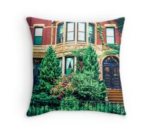 Boston Brownstone Throw Pillow