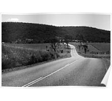 Road out in the country Poster