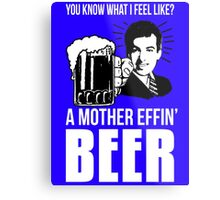 A Mother Effin' Beer Metal Print
