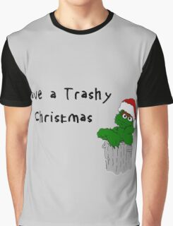 Oscar the Grouch at Christmas (light) Graphic T-Shirt