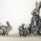 Clockwork Rabbits illustration by Ethan Yazel by EthanBurnsides