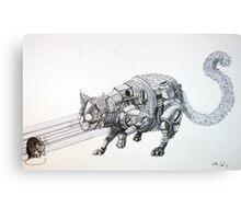 Clockwork Cat illustration by Ethan Yazel Canvas Print