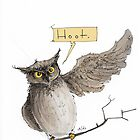 Hoot illustration by Ethan Yazel by EthanBurnsides
