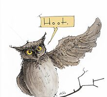 Hoot illustration by Ethan Yazel by EthanBurnsides