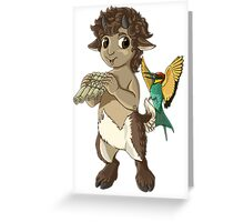 F is for Faun Greeting Card