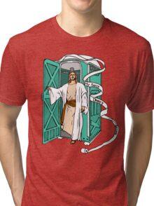 Jesus has left the thrown. Tri-blend T-Shirt