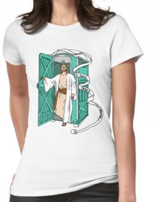 Jesus has left the thrown. Womens Fitted T-Shirt