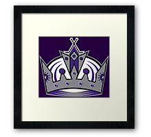 L.A. Kings Crown Framed Print