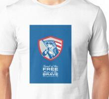 Patriots Day Greeting Card American Patriot  Waving Flag Shield Unisex T-Shirt