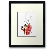 March Hair in Watercolor Framed Print