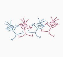 Happy Party Stick Figures by Style-O-Mat