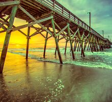Sunday Morning Pier Sunrise by Snyderman