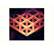 Grid in Space Art Print