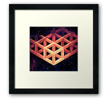 Grid in Space Framed Print