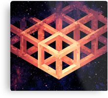 Grid in Space Metal Print
