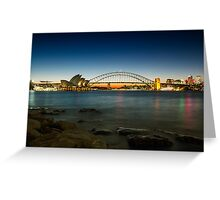 Harbour Night Greeting Card
