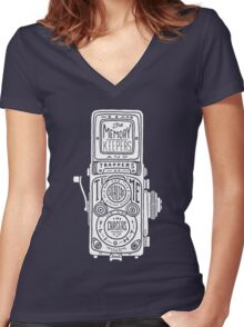 Chasers of the Light - White Women's Fitted V-Neck T-Shirt