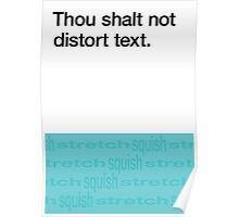 Commandment #1 of Design Poster