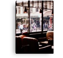 Coffee Shop on Saturday Canvas Print