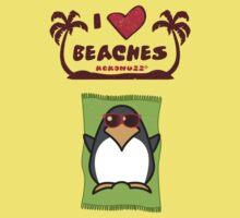 I love Beaches Kids Tee