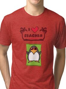 I love Beaches Tri-blend T-Shirt