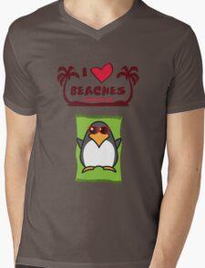 I love Beaches Mens V-Neck T-Shirt