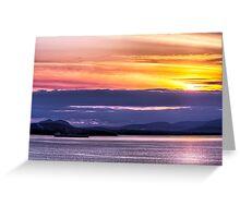 Samish Bay Sunset Greeting Card