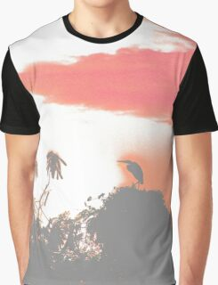 Heron silhouette by sunrise Graphic T-Shirt