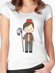 Eleventh Doctor Pandorica Kawaii Cartoon Design Women's Fitted Scoop T-Shirt