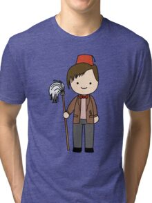 Eleventh Doctor Pandorica Kawaii Cartoon Design Tri-blend T-Shirt