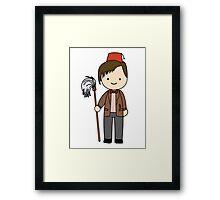 Eleventh Doctor Pandorica Kawaii Cartoon Design Framed Print
