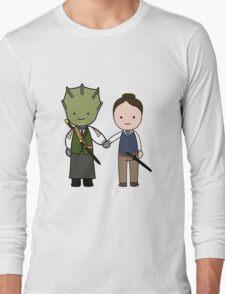 Vastra & Jenny Kawaii Cartoon Design Long Sleeve T-Shirt