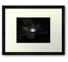 Super Moon...6-23-2013.. Framed Print