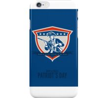 Patriots Day Greeting Card American Patriot Musket Rifle iPhone Case/Skin